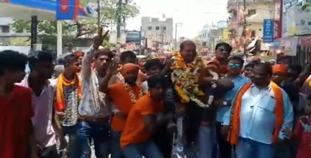 bjp celebrate joy with the leader