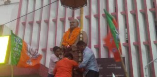 bjp respect to the statue of shyama prasad mukhopadhyay