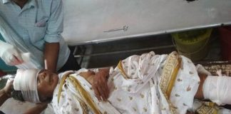 one old woman dead on road accident