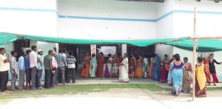 peaceful election in midnapore beside of Scattered incident