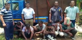 six arrested with stolen iron
