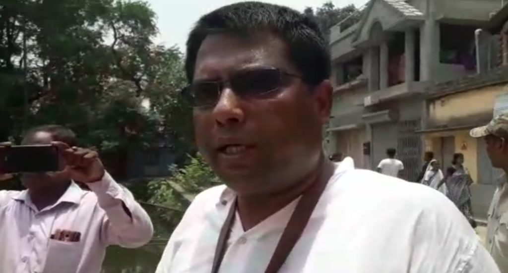 the bjp candidate injured