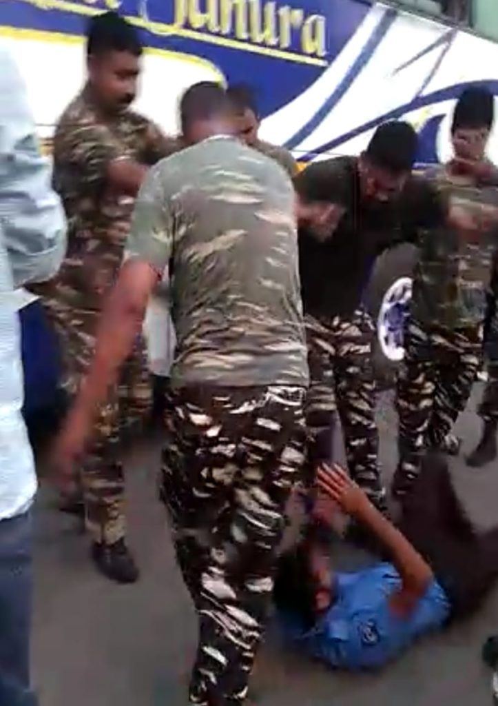 the complaint about civic volunteer injured by crpf