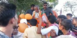 the election promotion of bjp at keshwari