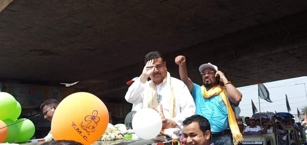 the election promotion of dibyendu with subhendu