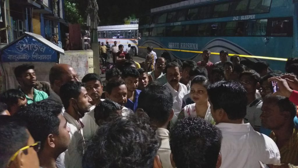 the fight between bus owner and passenger