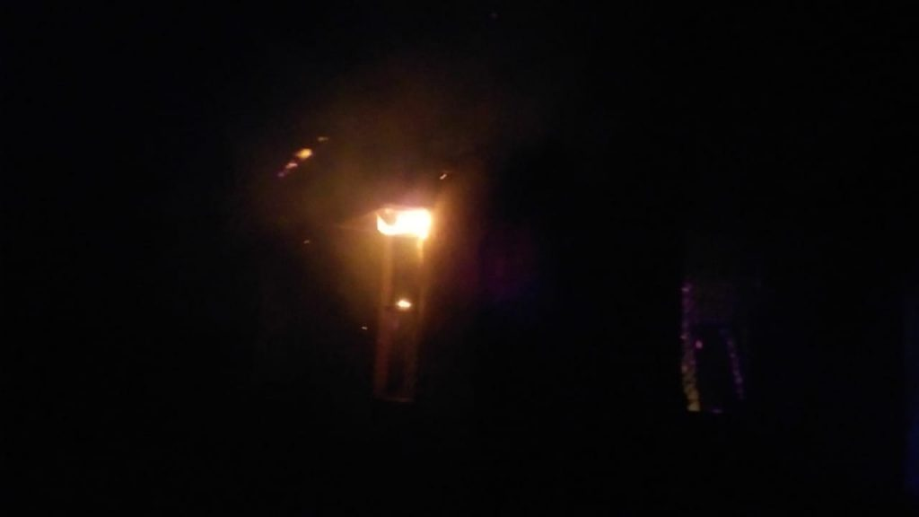 the fire in cantin of health center