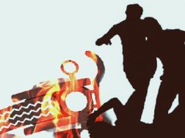 the fire on bike to bjp leader