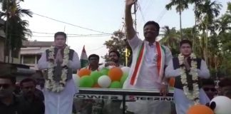 the rally of firhad in support of abhishek