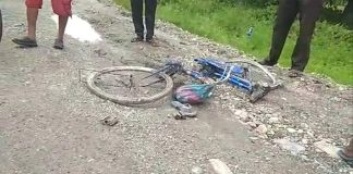 the woman labor dead on road accident