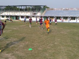 uttar dinajpur playing football in private tv channel
