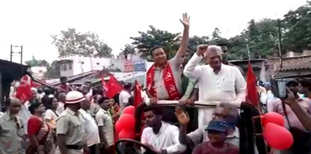 yechury in the election promotion of cpim