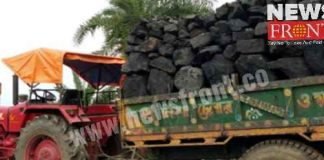 Angry local people for running Coal loaded trucks