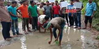 locality protest for poor road