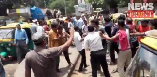 the fight between auto driver and toto driver