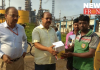 Distribution of Tiffin box to the workers