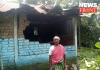 Workers' residences broken by elephant