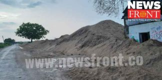 Illegal sand stocked | newsfront.co