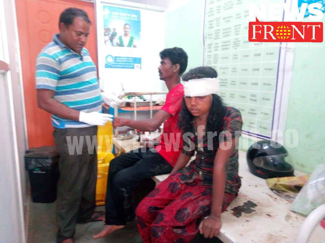 injured by turn down bus at gopiballavpur | newsfront.co