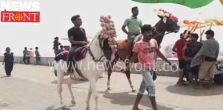 Banned horse riding at Digha beach   newsfront.co