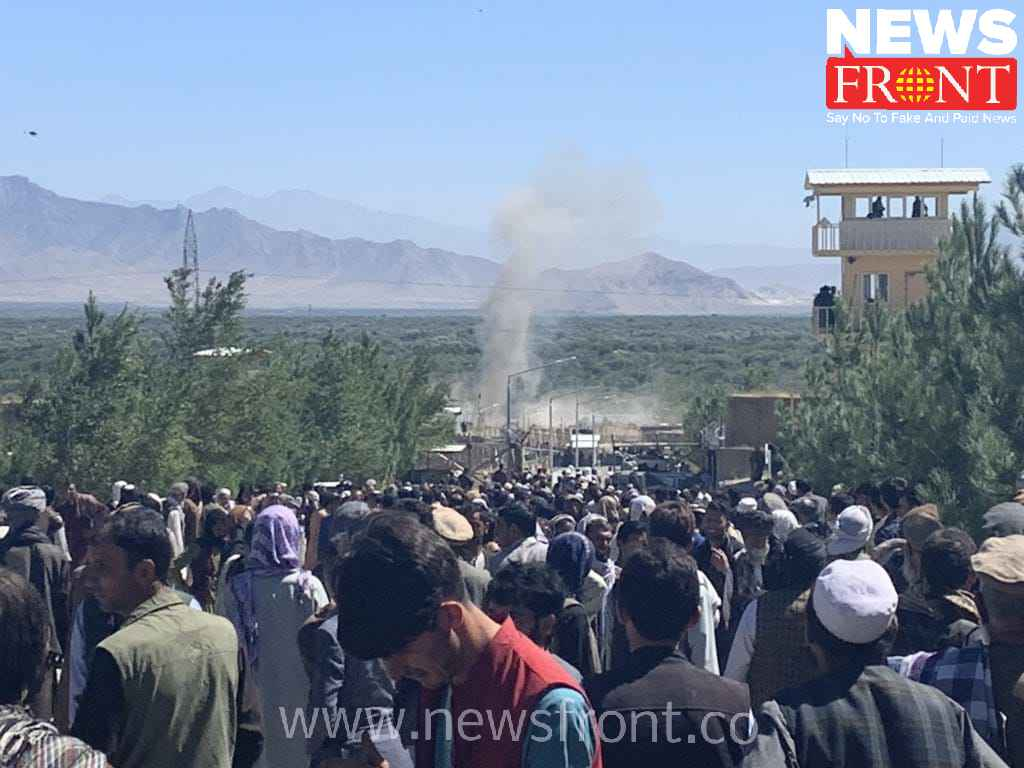 Explosion at the entrance of Afghanistan Presidential meeting | newsfront.co