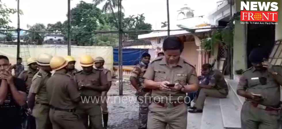 Explosion beside the puja pandel | newsfront.co
