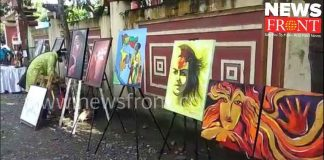 road exhibition on demand of art college gallery   newsfront.co