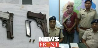 young man arrested with firearms