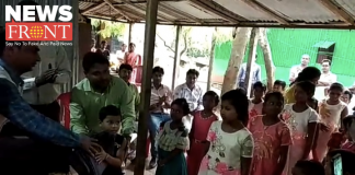 Distributing winter clothes at Orphanage home