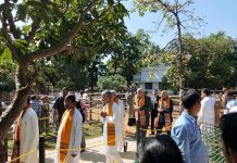flames of student protest At the convocation ceremony of Biswabharati