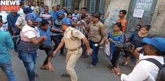 Police-mobs clash for play ground