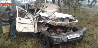 Road accident on Narayangarh National highway