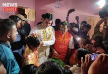 biplab blessing to daughter of bjp member   newsfront.co