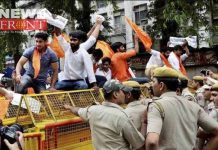 police lathicharge to the hindu jagran procession | newsfront.co