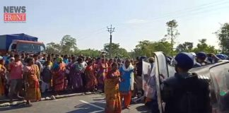 the police and villagers conflict for dumping ground | newsfront.co