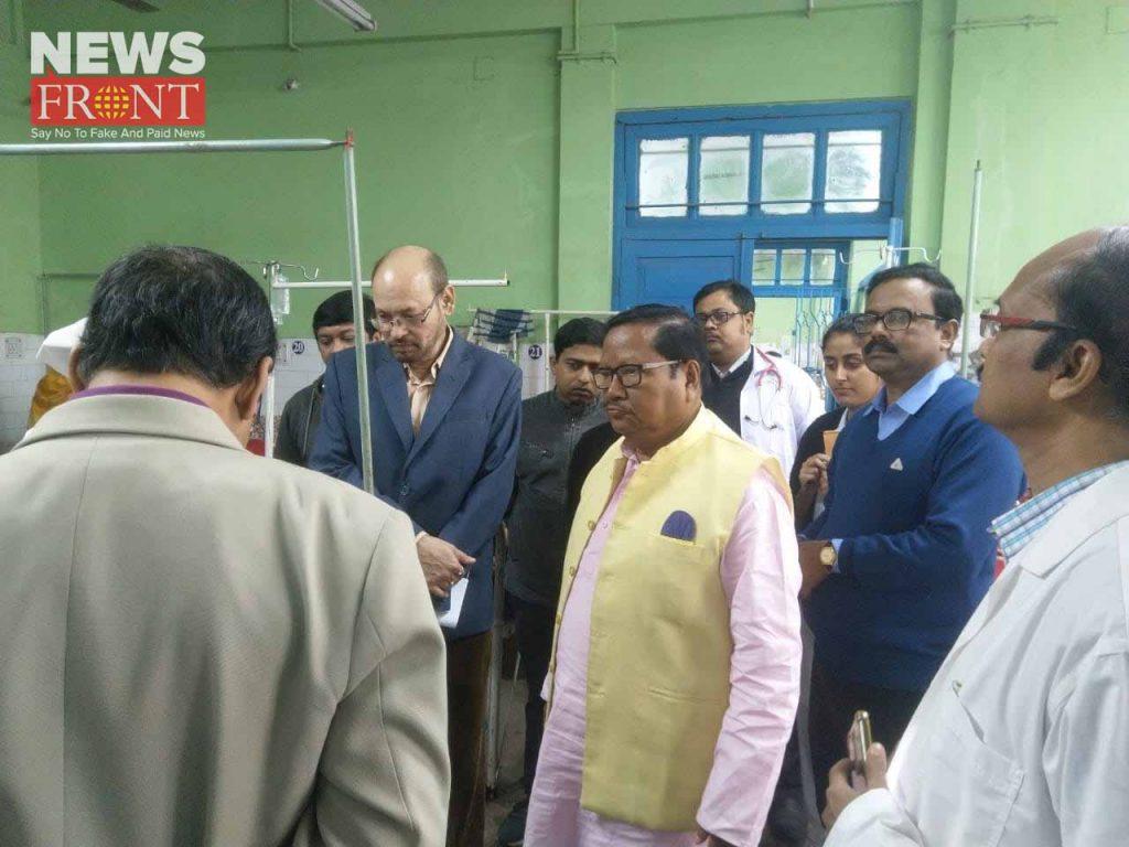 health inspector visit to mekliganj hospital | newsfront.co