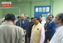 health inspector visit to mekliganj hospital | newsfront.co