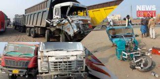 two dumpers accident in farakka barrage   newsfront.co