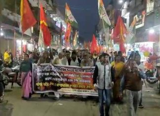 cpim and congress protest for resign amit shah in cooch behar | newsfront.co
