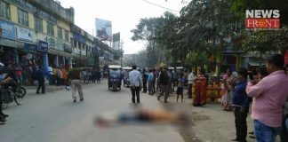 pedestrian dead in bus accident at mathabhanga | newsfront.co