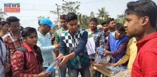 tmcp members provide drinking water to madhyamik candidates | newsfront.co