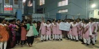 malda medical college hospital nurses protest for sanitizer and mask   newsfront.co