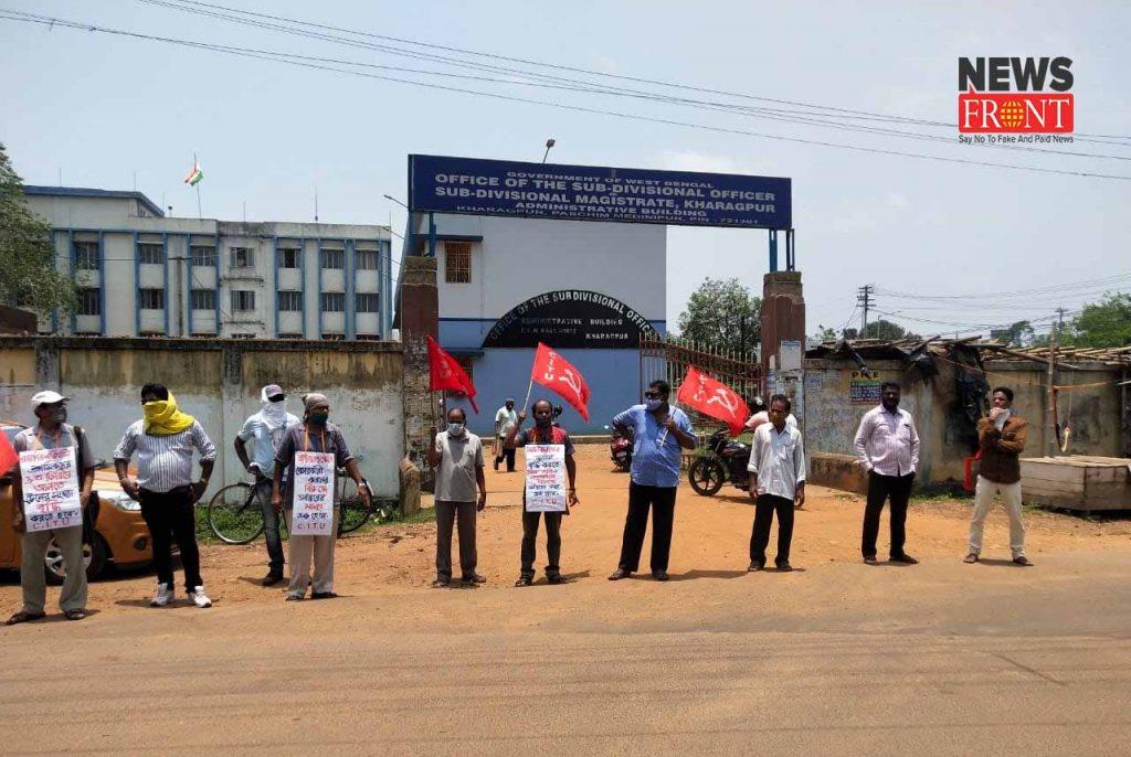 laborus submit deputation in kharagpur | newsfront.co
