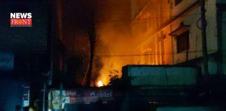 massive fire in bidhnagar market | newsfront.co