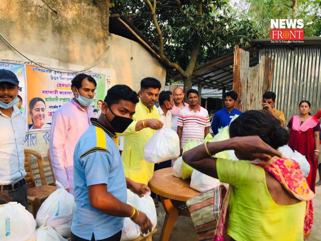 teacher association distribute food to poor   newsfront.co