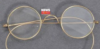 Gandhi's gold plated glass   newsfront.co