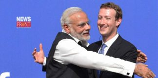 Narendra Modi and mark zuckerberg | newsfront.co