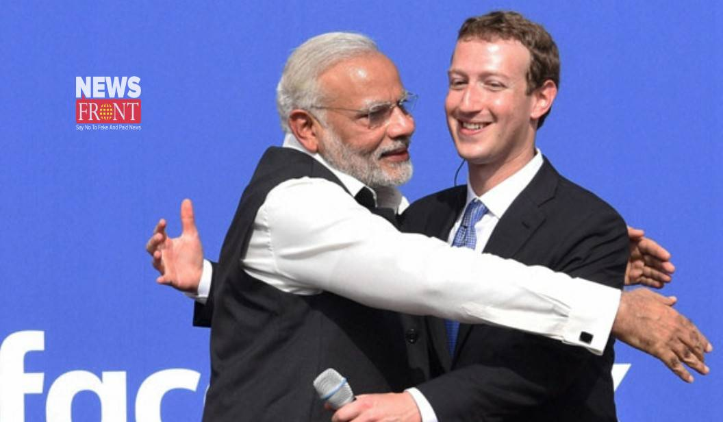 Narendra Modi and mark zuckerberg | newsfront.co