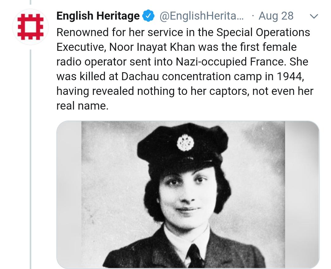 Noor Inayat Khan twitter | newsfront.co