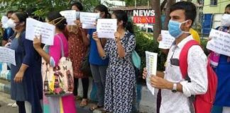 Students protest   newsfront.co